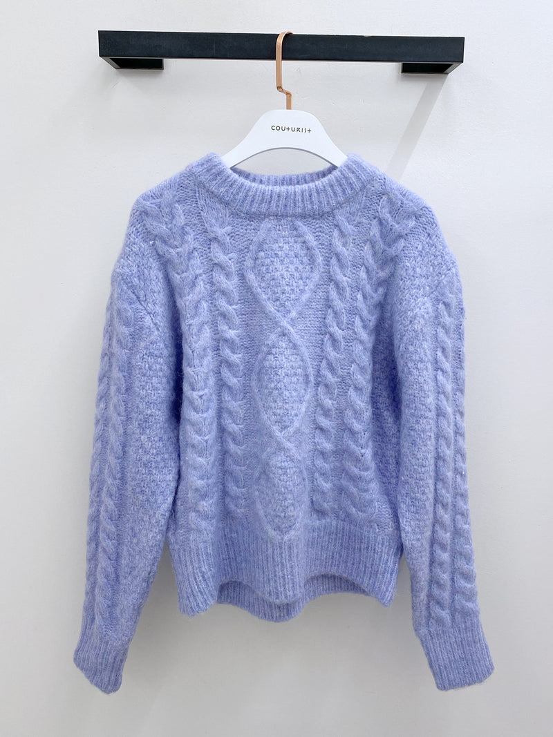 Solid Color Twisted Pattern Sweater
