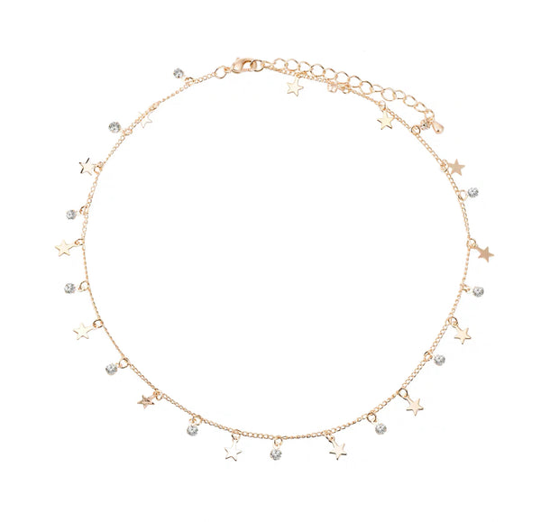 Stars and Rhinestones Choker