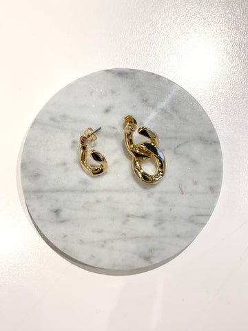 Asymmetrical Big Chain Earrings