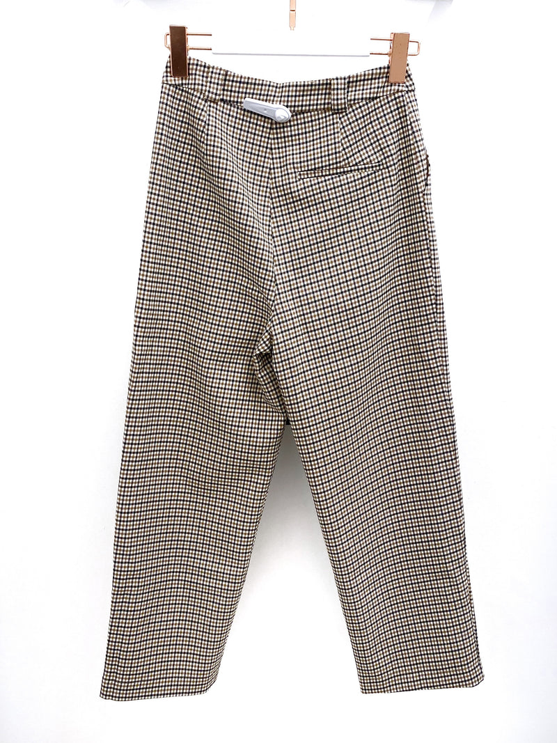 Small Checker Straight Leg Pants