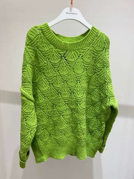 Oversized Diamond Patterned Sweater