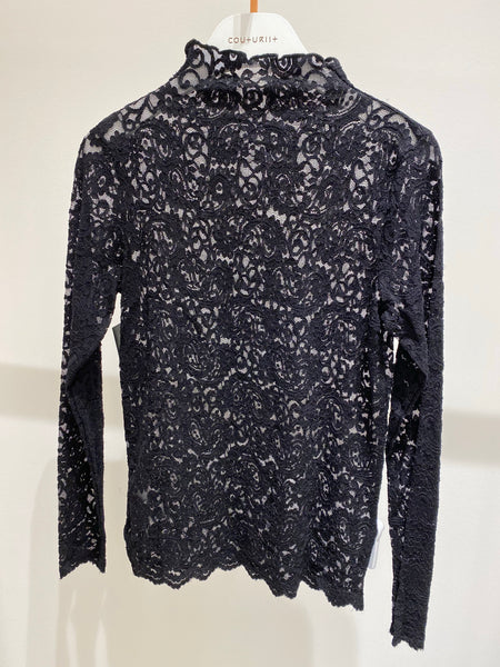 High Neck Lace Pattern Top