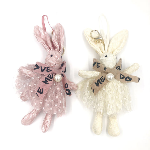 Big Bow Bunny Key Chain