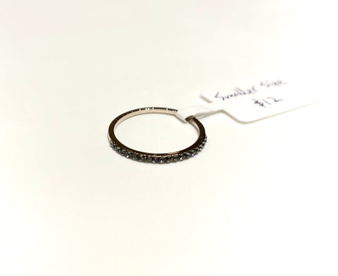 Dark Rhinestone Single Ring