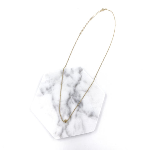 Single Metal Ball Necklace