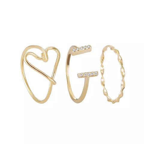 Heart Shape Ring Set