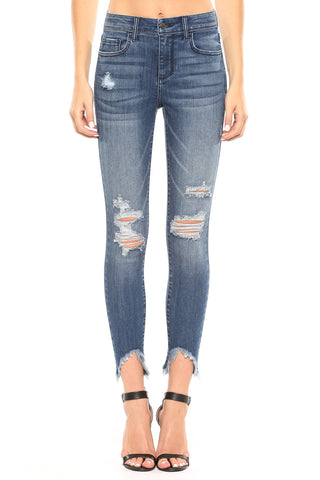 Destroy Frayed Hem Crop Skinny