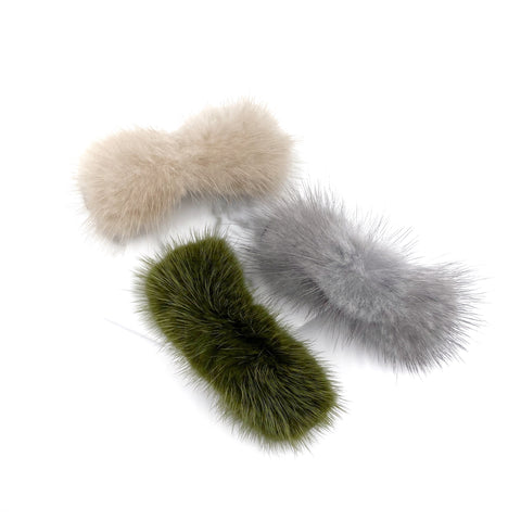 Fur Rectangle Hair Clip