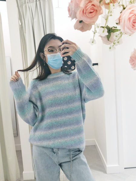 Oversized Gradient Stripes Sweater