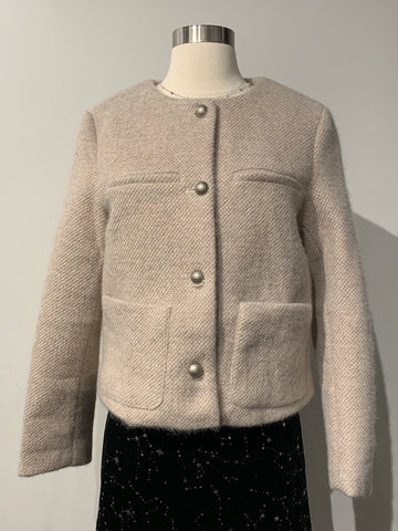 Button Up Fuzzy Cardigan with 4 Pockets