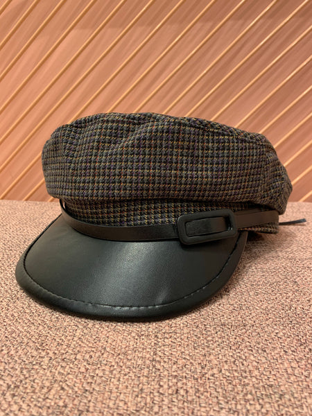 Leather Edge Military Hat