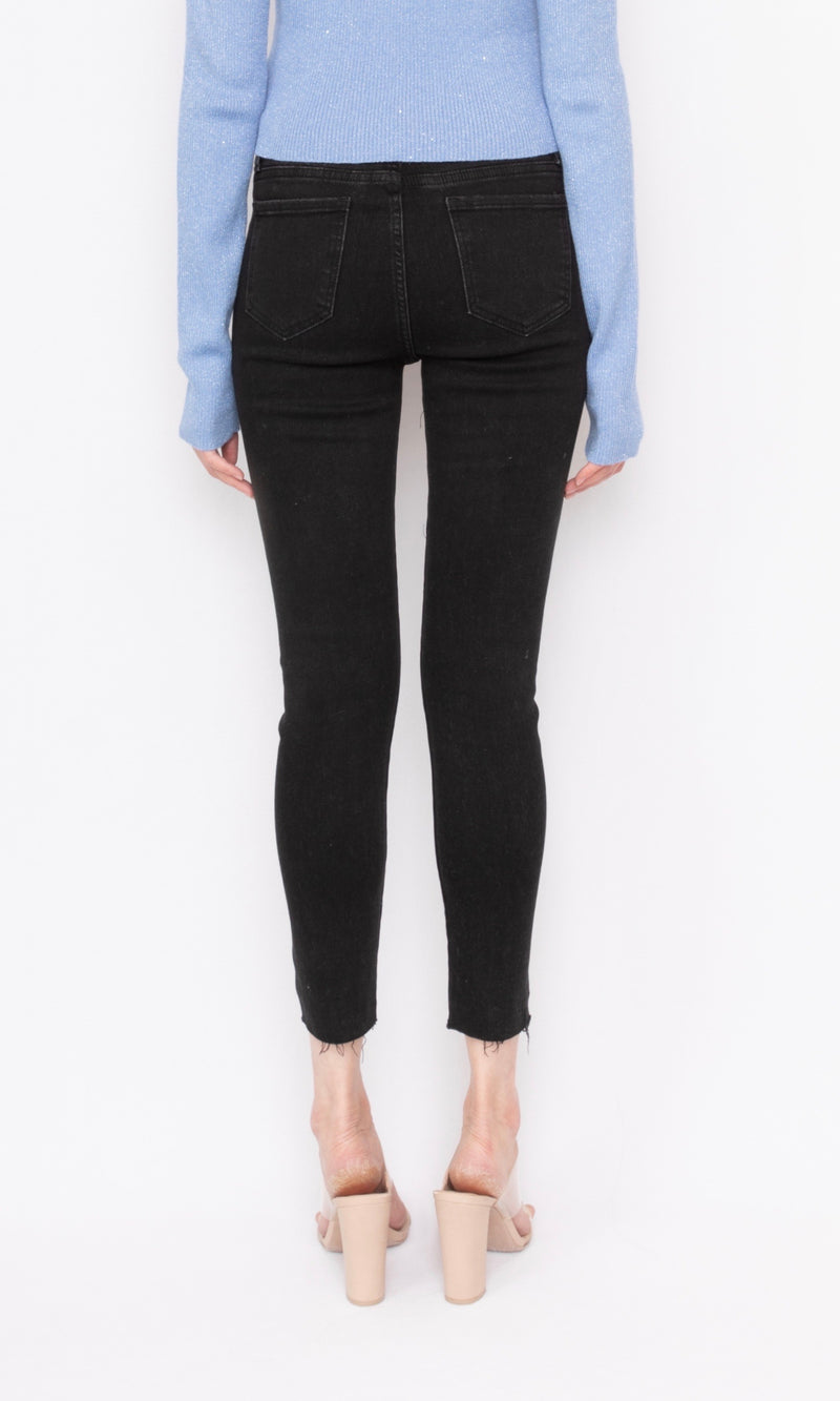 High-waisted Skinny Jeans with Thin Fleece Lining