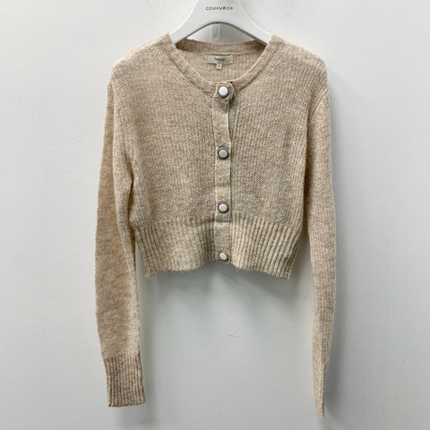 Thin Crop Button Up Cardigan
