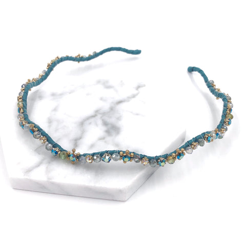 Crystal Beads Wavy Headband