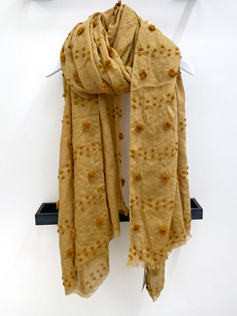 Dots and Mini Balls Scarf