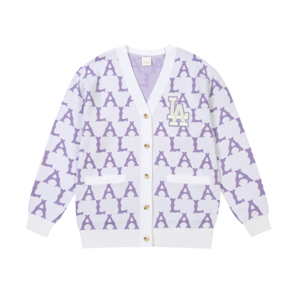 Oversized LA Monogram Cardigan