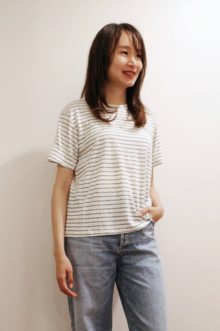 Oversized Crewneck Stripe T-shirt