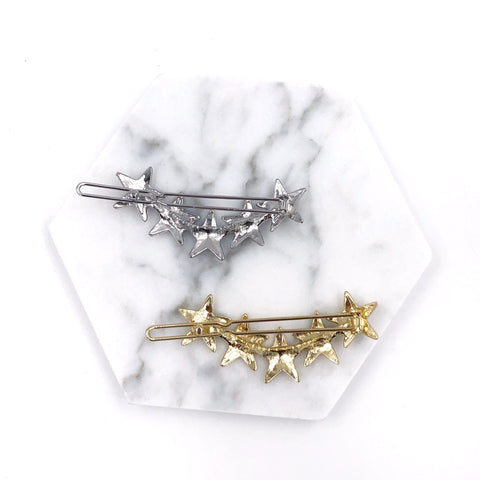 Five Metal Stars Hair Clip