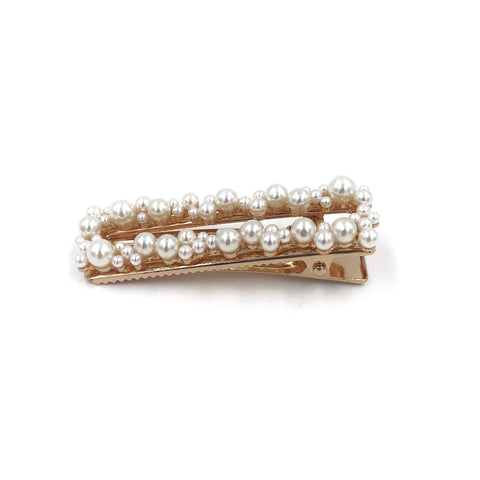 Big Rectangle Pearl Hair Clip