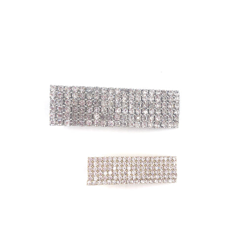 Rhinestone Rectangle Hair Clip