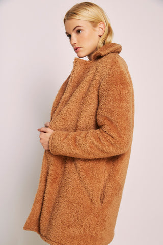 Teddy Bear Coat With Lapels