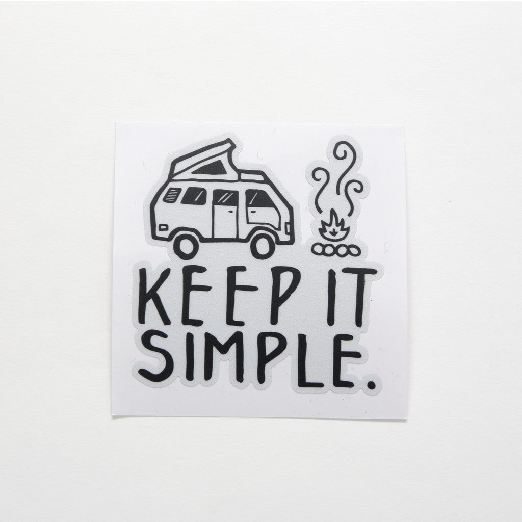 Keep It Simple Vanlife Sticker - By David Rollyn – Go-Van