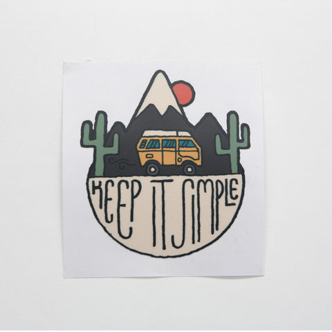 Keep it Simple in the Desert Sticker - by David Rollyn