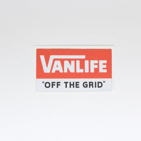 "Vanlife ""Off The Grid"" Sticker - By Nomad Design"