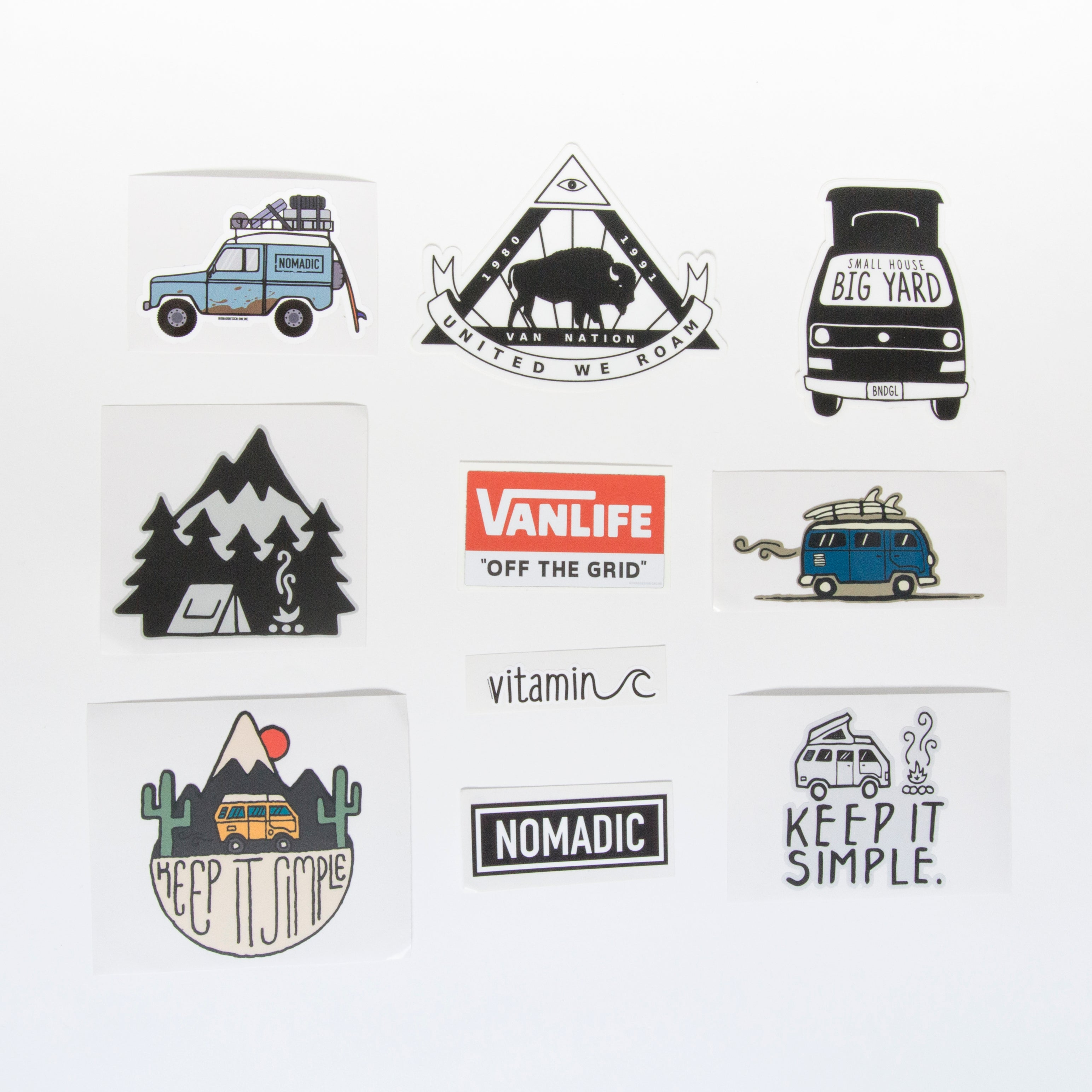 Ultimate 10 Vanlife Sticker Pack