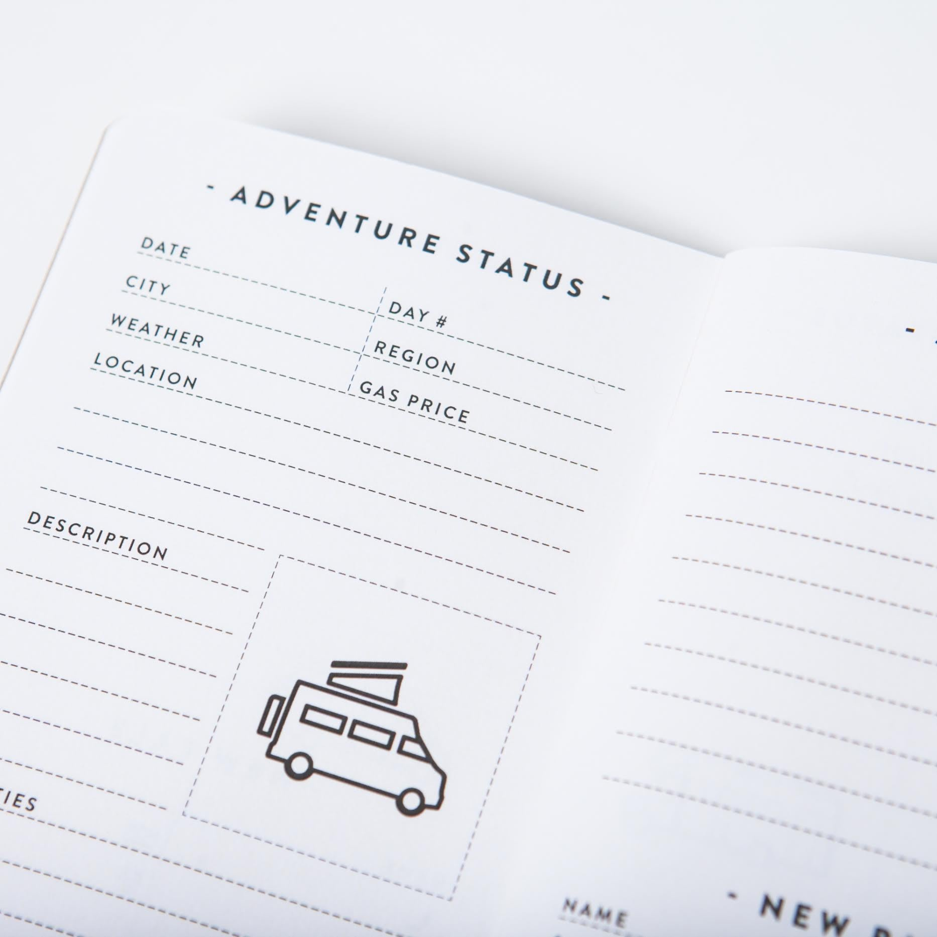Go-Van road trip notebook