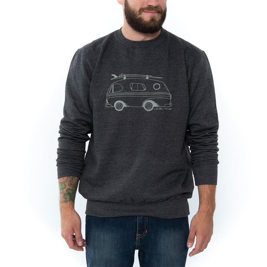 Live Small x Stay Rad Crewneck - Light Grey