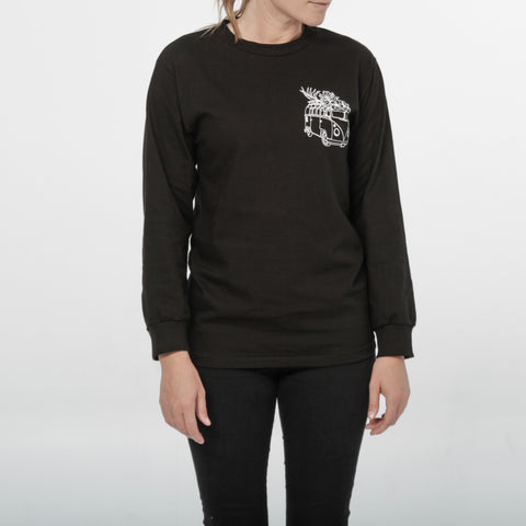 Westy - Classic Black Longsleeve - by Out of The