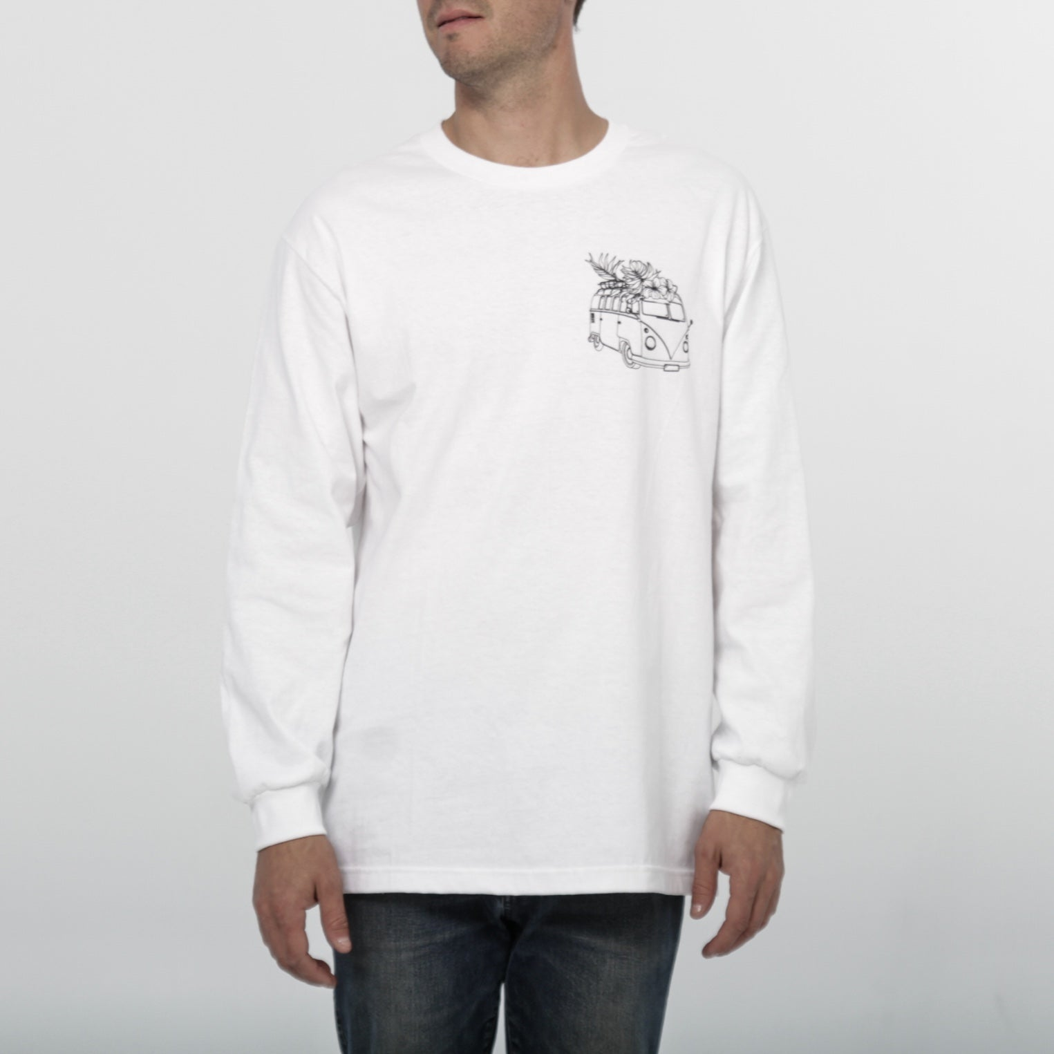 Westy - Classic White Longsleeve - by Out of The