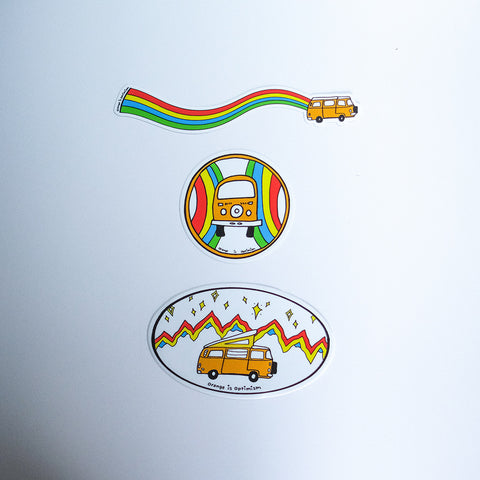 Sunshine Sticker Pack - By Idle Theory Bus