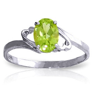 0.75 Carat 14K Solid White Gold Sula's Dreams Peridot Ring