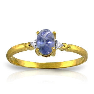 0.46 Carat 14K Solid Gold Ring Natural Diamond Tanzanite