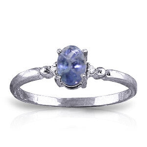 0.46 CTW 14K Solid White Gold Ring Natural Diamond Tanzanite