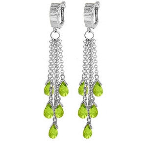 7.3 Carat 14K Solid White Gold People Like Ourselves Peridot Earrings