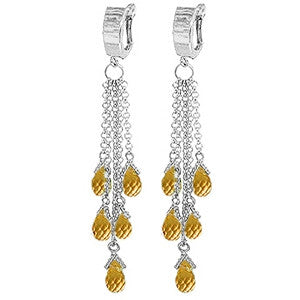 7.3 Carat 14K Solid Gold Liberated Elegance Citrine Earrings