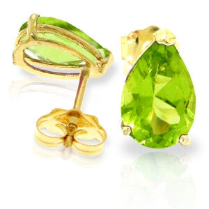 3 CTW 14K Solid Gold Art Of Love Peridot Earrings