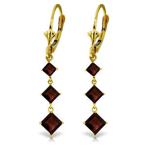 4.79 Carat 14K Solid Gold Adrenaline Garnet Earrings