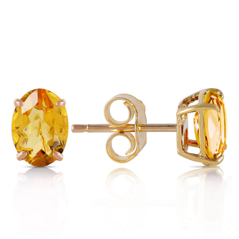 1.8 Carat 14K Solid Gold A Bee Or Two Citrine Earrings