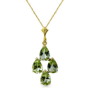 2.25 Carat 14K Solid Gold Aurora Leigh Peridot Necklace