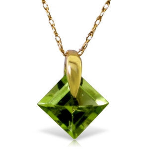1.16 Carat 14K Solid Gold Ask Me No More Peridot Necklace