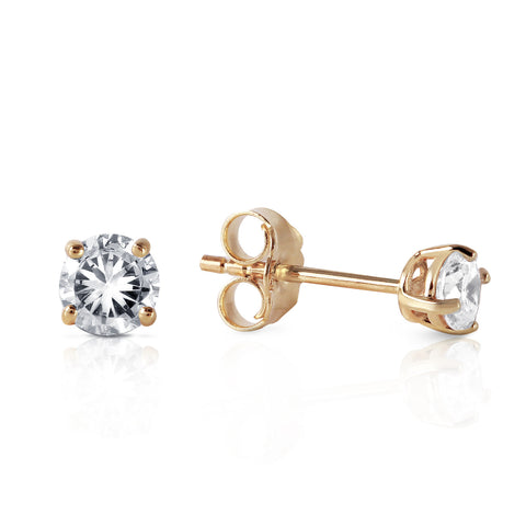 0.3 CTW 14K Solid Gold Stud Earrings 0.30 Carat Natural Diamond