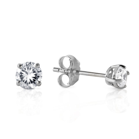 0.3 Carat 14K Solid White Gold Stud Earrings 0.30 Carat Natural Diamond