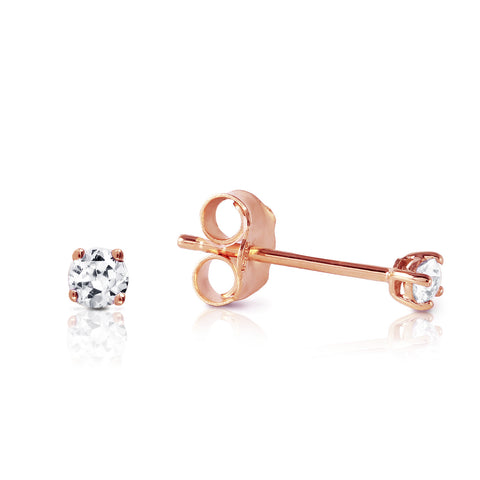 0.1 CTW 14K Solid Rose Gold Stud Earrings 0.10 Carat Natural Diamond