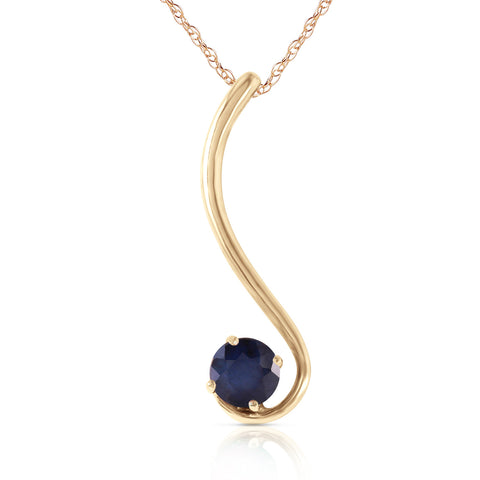 0.55 CTW 14K Solid Gold Delicious Breeze Sapphire Necklace