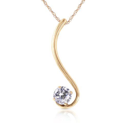 0.5 Carat 14K Solid Gold Necklace Natural 0.50 Carat Diamond