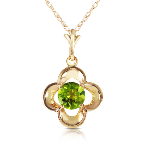 0.55 Carat 14K Solid Gold Directions To Love Peridot Necklace